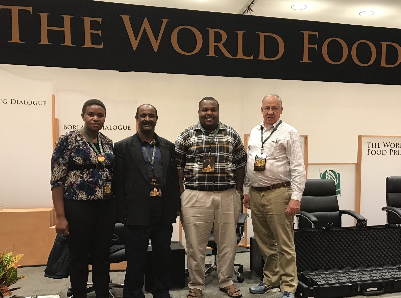 UNL Borlaug Fellows and their faculty mentors at the World Food Prize
