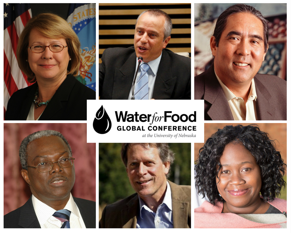 Featured speakers at the upcoming 2017 Water for Food Global Conference
