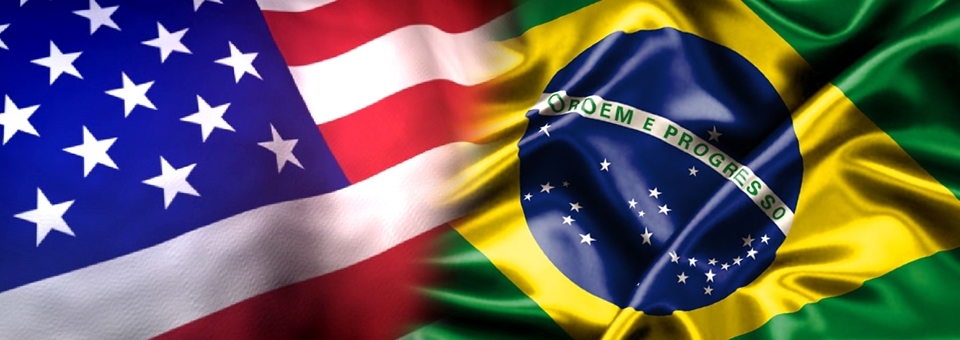 U.S. and Brazilian flag, representing the cooperation between researchers of the two countries